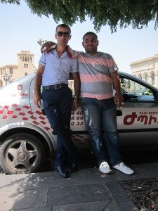 Taxi drivers in Yerevan.