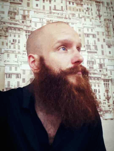 Red bearded German in Tbilisi.