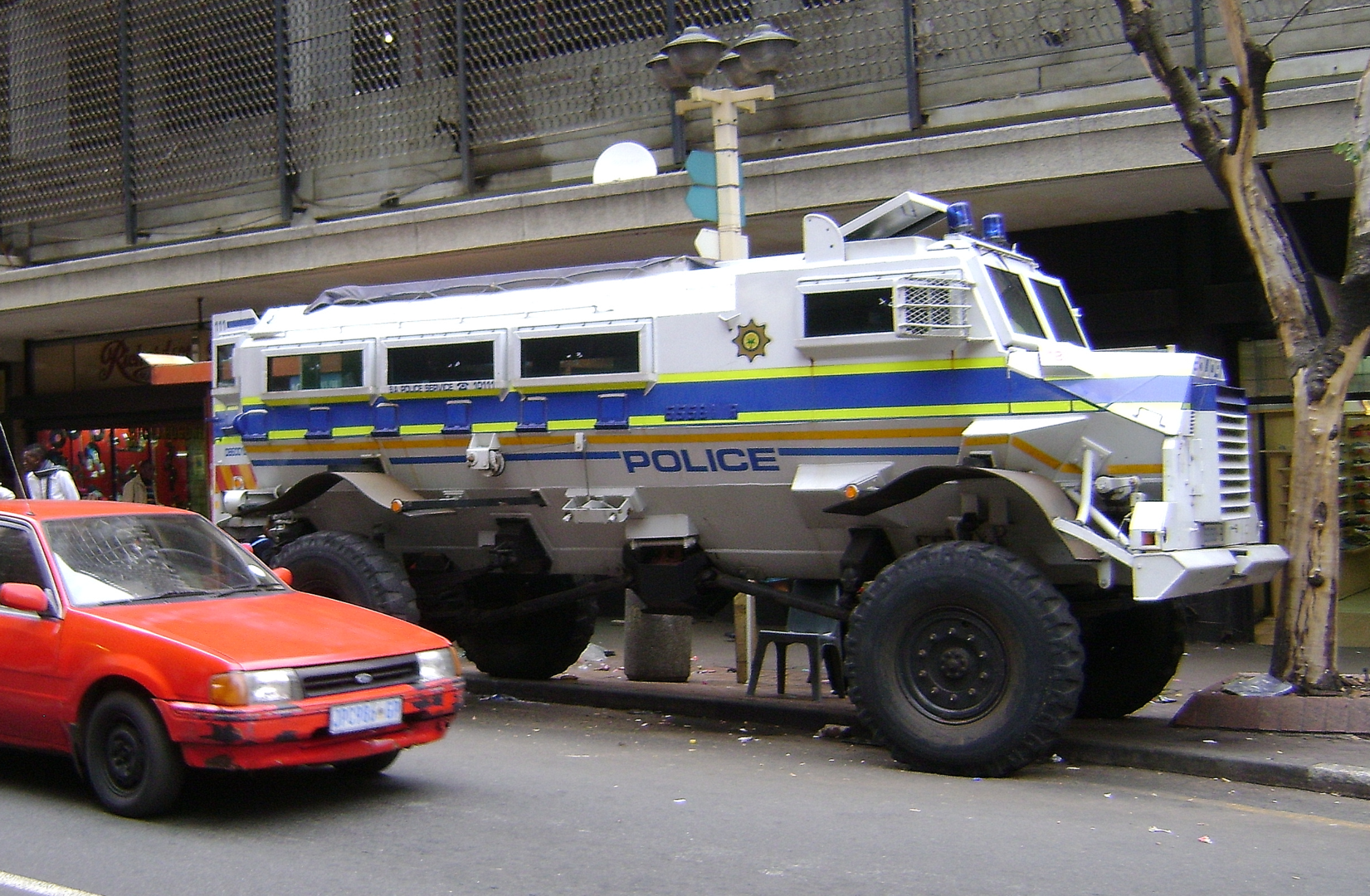 Thanks to left-over equipment from the oppressive Apartheid regime in South Africa, Johannesburg was able to go the 'buy local' route when it came to acquiring police vehicles suitable for the city's abhorrent crime problem.